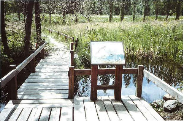 Aten - Aire aménagée sur le sentier de découverte proche de la maison du Parc national des Ecrins à Vallouise